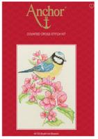 Anchor Bluetit and Blossom Cross Stitch Starter Kit: