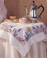 Anchor Spring Flower Tablecloth Embroidery Kit