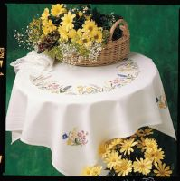 Anchor Spring Garland Tablecloth Embroidery Kit