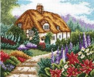 Anchor  Cottage Garden in Bloom Cross Stitch Kit