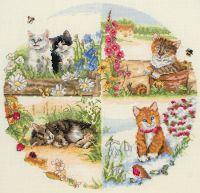 Anchor Cats & Seasons Cross Stitch Kit: