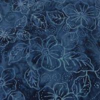 Moda De La Sol Batiks Blue Floral