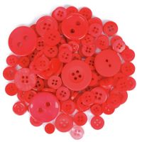 Mixed Craft Button Pack Red