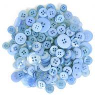 Mixed Craft Button Pack Light Blue