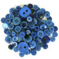 Mixed Craft Button Pack Dark Blue