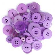 Mixed Craft Button Pack Purple