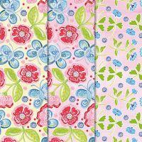 Mixed Paper Sheets Butterflies & Flowers