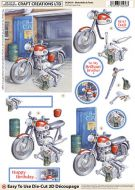 Cc Die Cut 3d Motorbike & Tools