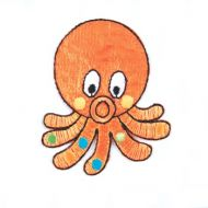 Embroidered Motif OCTOPUS