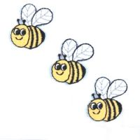 Embroidered Motif BEE TRIO