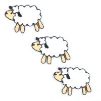 Embroidered Motif SHEEP TRIO