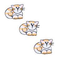 Embroidered Motif CAT TRIO