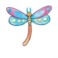 Embroidered Motif DRAGONFLY
