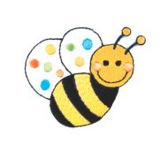 Embroidered Motif BUMBLE BEE