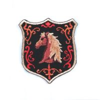 Embroidered Motif HORSE SHIELD