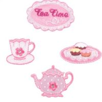 Embroidered Motif TEA TIME