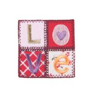 Embroidered Motif QUILTED LOVE