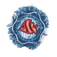 Embroidered Motif DENIM FISH