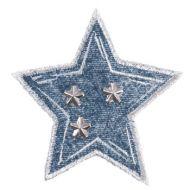 Embroidered Motif DENIM STAR