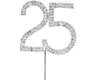 Diamante Number 25 On Stem