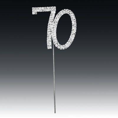 Diamante Number 70 On Stem