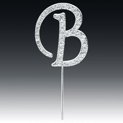 Diamante Letter B On Stem