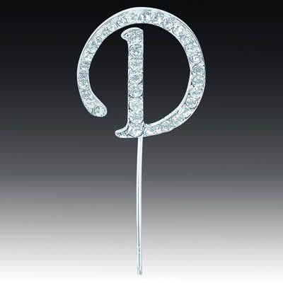 Diamante Letter D On Stem