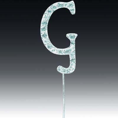 Diamante Letter G On Stem