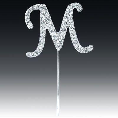 Diamante Letter M On Stem