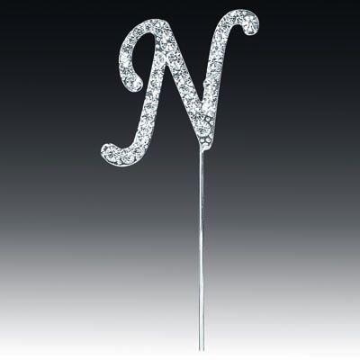 Diamante Letter N On Stem