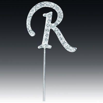 Diamante Letter R On Stem