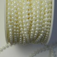 Pearl String ivory 3mm