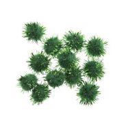 Glitter Pom Poms 1/2in: Green