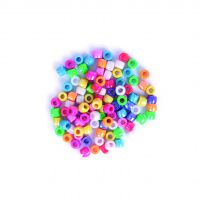 Lustre Pony Beads Assorted 20g