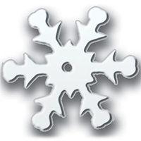 Snowflake Sequins White Iris