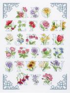 Anchor Floral Alphabet Cross Stitch Kit