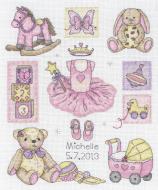 Anchor Girl Birth Record Cross Stitch Kit
