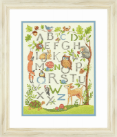 Dimensions Woodland Alphabet  Cross Stitch Kit
