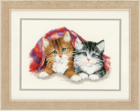 Vervaco Kittens under Rug Cross Stitch Kit