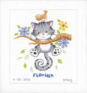 Vervaco Kitten Birth Record Cross Stitch Kit