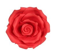 Edible Soft Rose Red 50mm X10