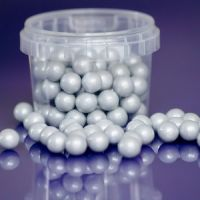 Purple Cupcake 10mm Silver Pearls