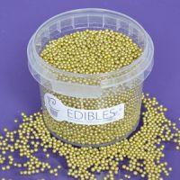 Purple Cupcake 2mm Gold Pearls
