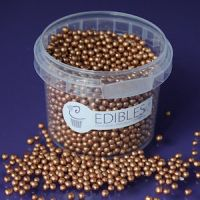 Purple Cupcake 4mm Bronze Pearls