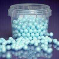 Purple Cupcake 7mm Blue Pearls