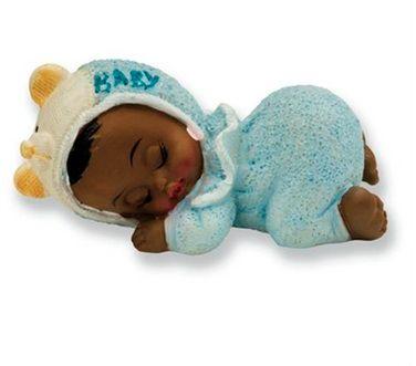 Sleeping Dark Baby Boy