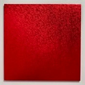 Red 14 inch Square Cake Board