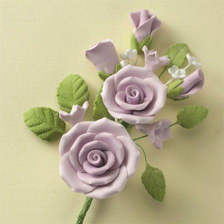 Wired Sugar Rose Spray Lilac