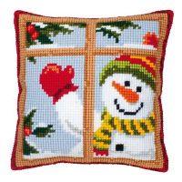 Cross Stitch Kit: Cushion: Snowman by Vervaco