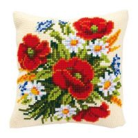 Cross Stitch Cushion Kit Flowers by Vervaco